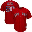 Men's Boston Red Sox #50 Mookie Betts Cool Base stitched Jersey red