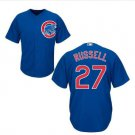 Men's #27 Addison Russell Chicago Cubs Blue Cool Base Jerseys Stitched