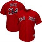 2018 Men's Boston Red Sox #34 David Ortiz Red Cool Base Player Jersey