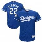 Men's Dodgers 22 Clayton Kershaw Royal 2017 World Series Player Jersey