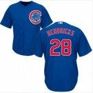 Men's #28 Kyle Hendricks Chicago Cubs Blue Cool Base Jerseys