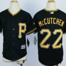 Youth Pittsburgh Pirates #22 Andrew McCutchen Black Kids New Cool Base Jersey