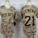 Youth boys Pittsburgh Pirates #21 Roberto Clemente camo Jersey camouflage