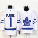 Toronto Maple Leafs 1 Jacques Plante White Jersey