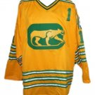 Dave Dryden #1 Chicago Cougars Retro Jersey New Yellow Any Size