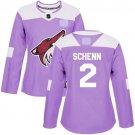 Women's Arizona Coyotes Fights Cancer #2 Luke Schenn Jersey Purple