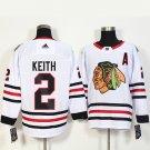 Chicago Blackhawks 2 Duncan Keith Red,White Jerseys