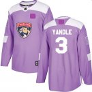 Youth Florida Panthers Fights Cancer #3 Keith Yandle Jersey Purple