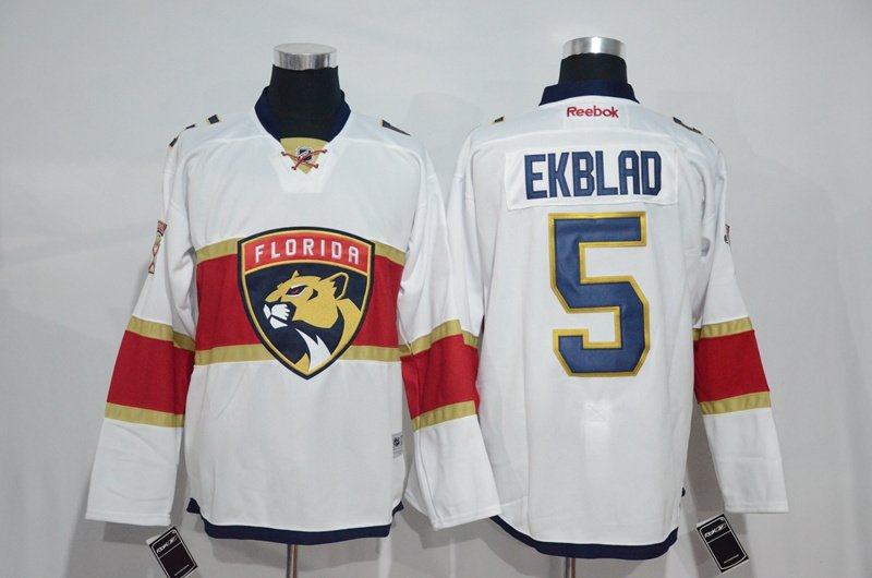 Swen Logo Florida Panthers 5 Aaron Ekblad White Jerseys