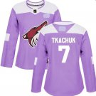 Coyotes Fights Cancer #7 Keith Tkachuk Jersey Purple
