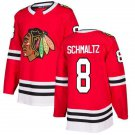 New Men's Chicago Blackhawks #8 Nick Schmaltz Red Jersey