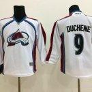 Swen Logo Colorado Avalanche 9 Matt Duchene White Jerseys