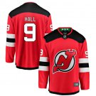 Men's Hall #9 New Jersey Devils Home Jersey  Red