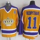NHL Men's Los Angeles Kings 11 Anze Kopitar Yellow Jersey