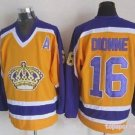 Angeles Kings 16 Marcel Dionne Yellow Purple Throwback Jersey