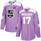 Angeles Kings Fights Cancer 17 Jonny Brodzinski Jersey Purple