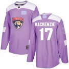 Florida Panthers Fights Cancer #17 Derek MacKenzie Jersey