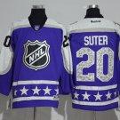 Minnesota Wild 20 Ryan Suter Purple All Star Jerseys
