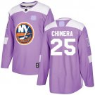 York Islanders Fights Cancer #25 Jason Chimera Jersey Purple