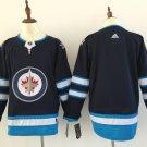 Men Winnipeg Jets Blank Jersey Black