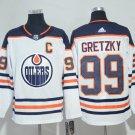 Men Edmonton Oilers 99# Wayne Gretzky Jersey White