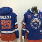 Men Edmonton Oilers 99# Wayne Gretzky Jersey Blue