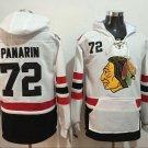 Men Chicago Blackhawks 72# Panarin Jersey White