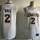 Mens Los Angeles Lakers 2# Lonzo Ball Jersey White New