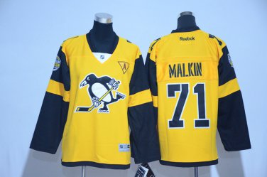 hot sale online 8419f 5eabf Youth Pittsburgh Penguins 71# Evgeni Malkin Jersey Yellow