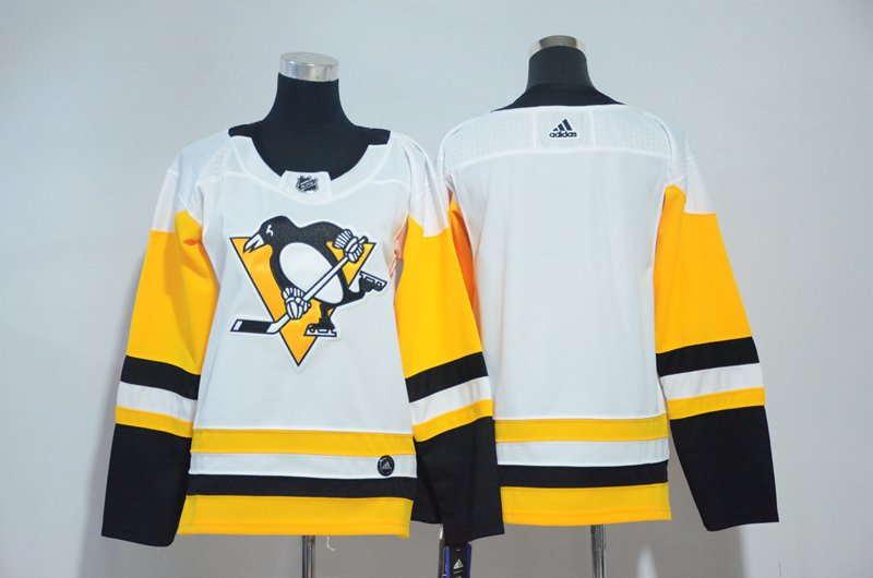Women Pittsburgh Penguins Blank Jersey White