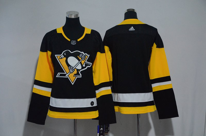 Women Pittsburgh Penguins Blank Jersey Black