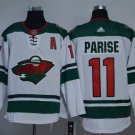 2018 Men Minnesota Wild  11# Zach Parise Jersey  White