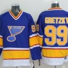 2018 Men St. Louis Blues 99# Wayne Gretzky Jersey Blue