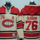 2018 Men Montreal Canadiens 76# PK Subban  Jersey White