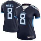 Women Tennessee Titans 8# Marcus Mariota  camouflage football Jersey Navy