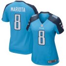 Women Tennessee Titans 8# Marcus Mariota  camouflage football Jersey Blue
