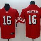 Men's San Francisco 49ers 16# Joe Montana Limited Jersey Red