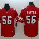 Men's San Francisco 49ers 56# Reuben Foster Limited Jersey Red