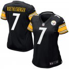 Women Pittsburgh Steelers #7 Ben Roethlisberger Football Limited Jersey Black