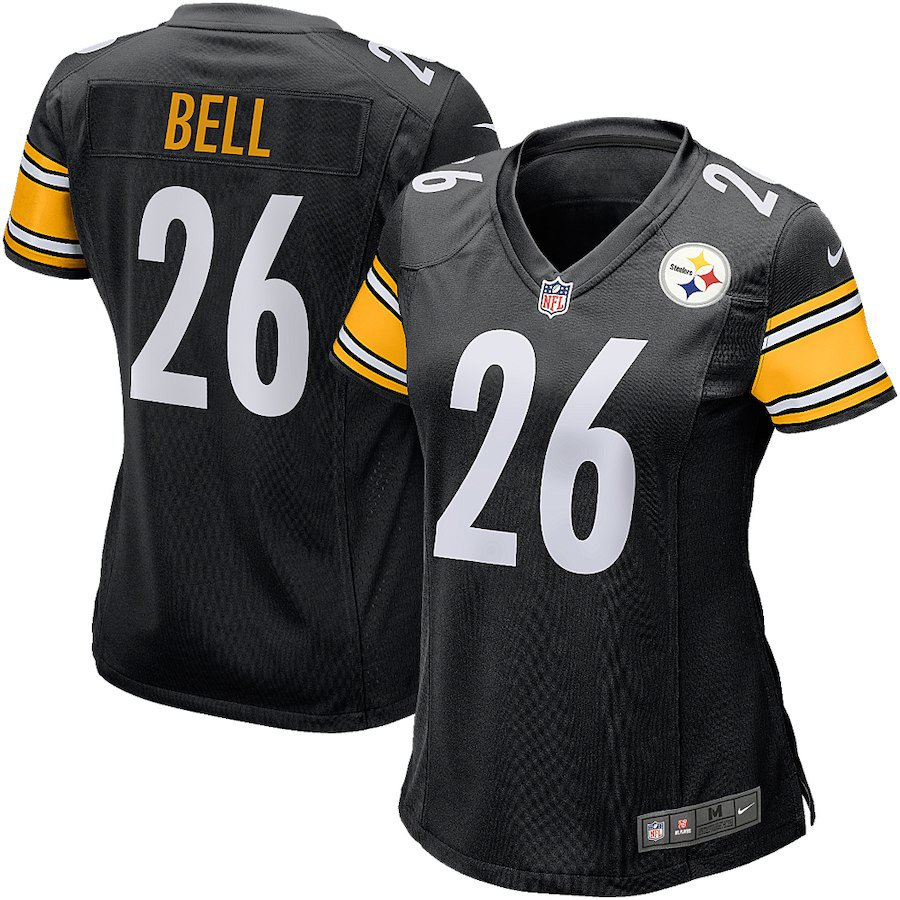 Women Pittsburgh Steelers 26# Le'Veon Bell Limited Jersey Black