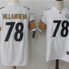 Men's Pittsburgh Steelers 78# Alejandro Villanueva  Football Limited Jersey White