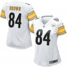 Women Pittsburgh Steelers 84# Antonio Brown Limited Jersey White