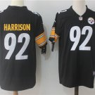 Men's Pittsburgh Steelers 92# James Harrison Limited Jersey Black