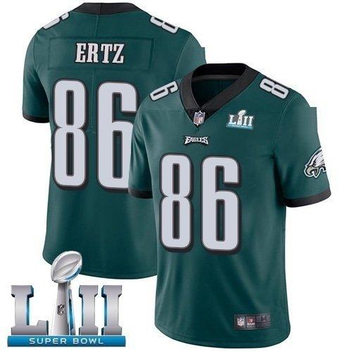 Men's Philadelphia Eagles 86# Zach Ertz Jersey Green  Super Bowl LII