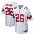 Men's New York Giants 26# Saquon Barkley Limited Jersey White