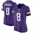Women Minnesota Vikings 8# Kirk Cousins  Limited Jersey Purple