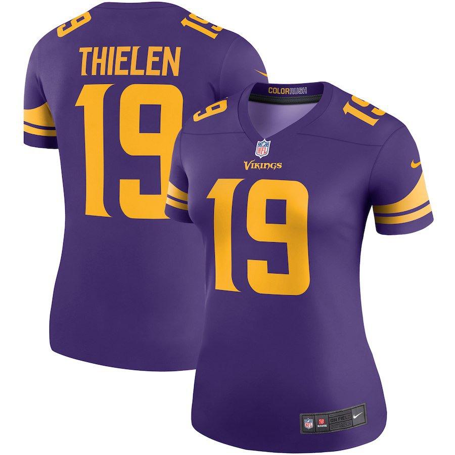 new concept f5306 26dbd Women Adam Thielen Jersey #19 Minnesota Vikings Home ...
