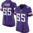 Women Minnesota Vikings 55# Anthony Barr Salute to Service football jersey Purple
