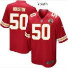 Youth kid KC Chiefs #50 Justin Houston Stitched Football jersey New
