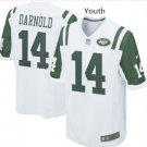 Youth kid New York Jets #14 Sam Darnold game jersey white New